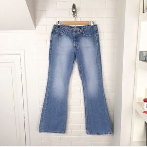 {American Eagle} Vintage Button Fly Flare Jeans